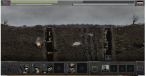 Wide shot showing the Interface for the game