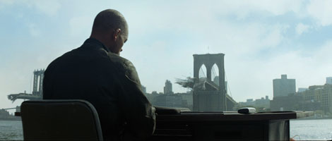 The Iconic Brooklyn Bridge Scene from the Film.  Would it have remained standing?