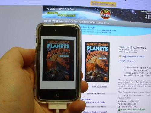 Baen Free Book on Apple Ipod