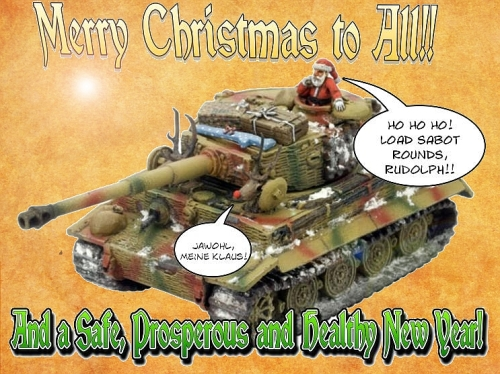 Wargame Christmas Card 2009, based upon an image from Battlefront Games' website