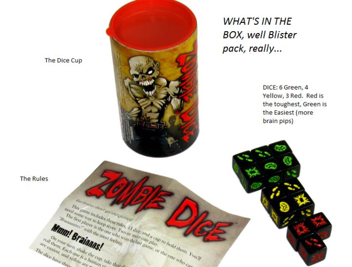Zombie Dice Parts