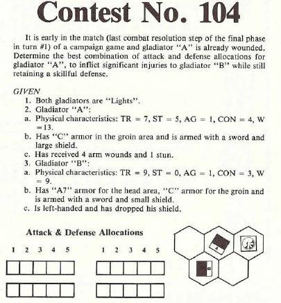 Contest 104 Gladiator