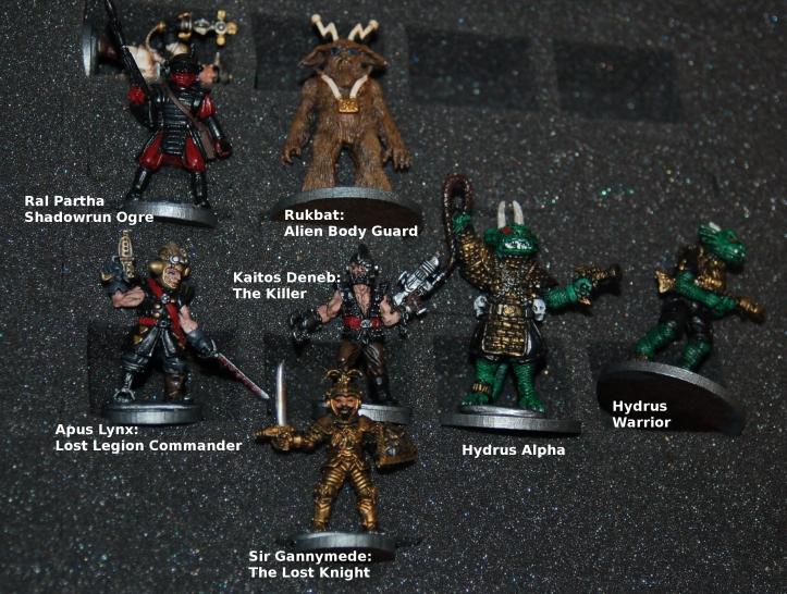 Pulp SF figures