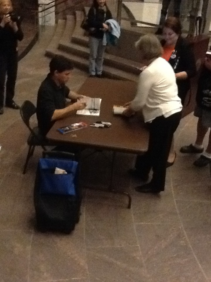 Max Brooks at the Fairfax County Government Center, 10/25/11