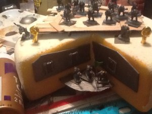 The Primus Gun Deck, with a small fighting platform built from Scavenged armor pieces