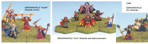 Assorted Demonworld Wizards and Shamans found on Ebay lately.