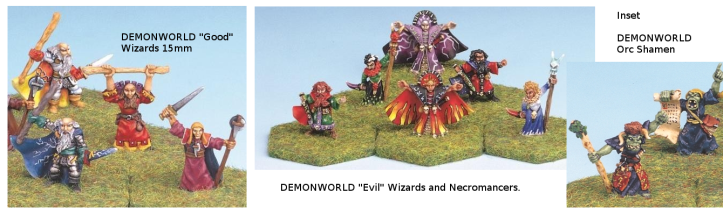 Assorted Demonworld Wizards and Shamans found on Ebay lately.