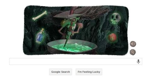 Google's Halloween Doodle for 2013...