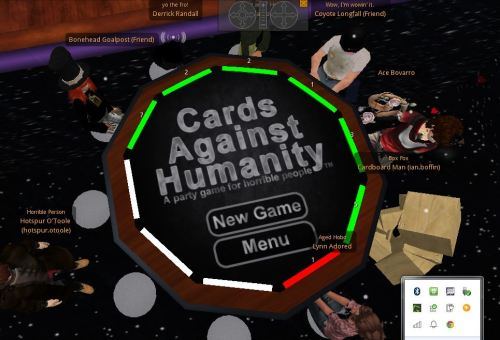 Cards against Humanity in Second Life (tm)