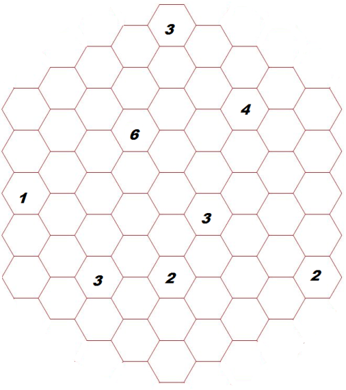 MAY 2014 Puzzle: Hexagon Looping path