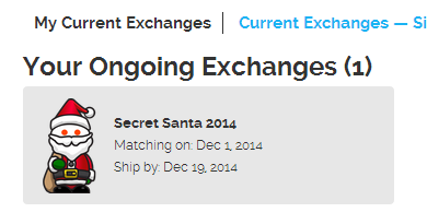 Reddit Gifts exchange 2014.  This tradition is a spin-off of the main site reddit.com, and has been ongoing for the last 6 years.
