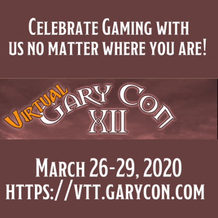 Logo for Virtual GaryCon 2020